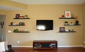 Hanging Floating Shelves by The Family Room The Other Half Shelves Tvs And Room