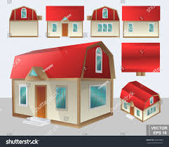 set barn style house shown 7 stock vector 660829003 shutterstock