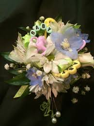Mint Green Corsage Baby Shower Corsage With Baby Toys In Pastels Williamsburg Floral