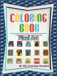 mini coloring book pixel art color number learning