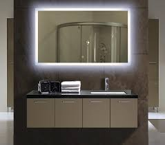 Illuminated Bathroom Mirrors Backlit Bathroom Mirror Large Home Ideas Collection Prepare
