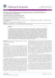 an appraisal of nephroprotection and the scope of natural products