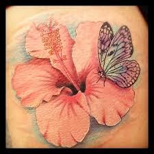 b butterfly b b b on b hibiscus b on shoulder by b