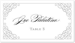 wedding place cards template grey calligraphy swash folded place card template downloadble