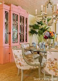 love the pink china cabinet chinoiserie chic orange chinoiserie