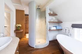dressing room with bathroom home shape