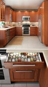 Spice Drawers Kitchen Cabinets by Pullout Shelf In Kitchen Cabinets With Storage Room For Cooking