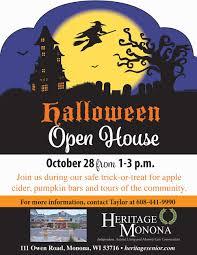 waukesha city halloween monona halloween open house heritage senior living