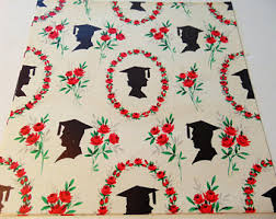 graduation wrapping paper vintage paper etsy