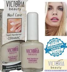 victoria beauty nail hardener ceramic calcium gel 12 ml