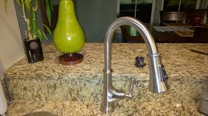gold glacier bay pull down kitchen faucet centerset single handle