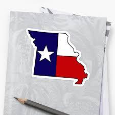 Misouri Flag Missouri Outline Texas Flag