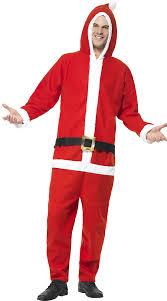 santa costume mens santa jumpsuit mens one santa costume mens onesie
