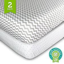 Cotton Crib Mattress Crib Sheets Set 2 Pack Fitted Soft Jersey Cotton Crib