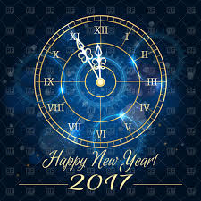 happy new year backdrop happy 2017 new year background with blue clock vector clipart