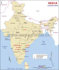 Production Map Gem Quality Mining Countries Mines In India Mine Location Map