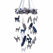 Deer Mobile For Crib Navy U0026 Gray Deer Arrow U0026 Feather Mobile Carousel Designs
