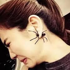 men earings 1 pcs hot sale rock fashionable men women black spider