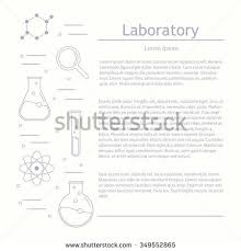 vector laboratory chemical medical test logo stock vector
