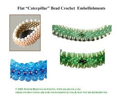 bead crochet rope bracelet images Bead crochet flat caterpillar patterns sova enterprises jpg