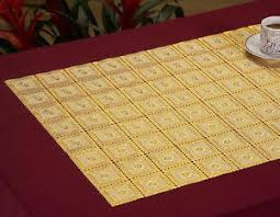 gold lace table runner 3 table runners in gold lace 90 long each pretty practical vinyl