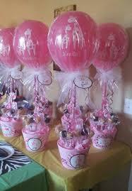 baby shower centerpieces ideas centros de mesa con globos de látex para decoración de baby shower