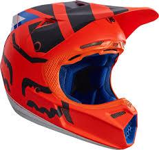 helmets motocross fox goggles mtb fox v3 creo mx helmet helmets motocross orange