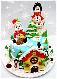 Christmas Cake Decorations Usa by 159 Best Christmas Cakes Images On Pinterest Christmas Cakes