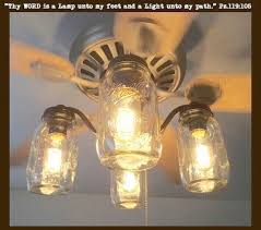Kitchen Fan Light Fixtures Vintage Canning Jar Ceiling Fan Light Kit By Lampgoods On Etsy