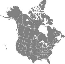 canadian map with time zones usa and canada map vector free