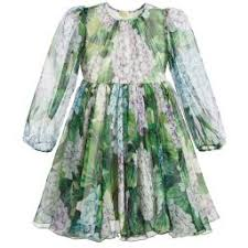 u0026 gabbana girls silk u0027ortensia u0027 dress childrensalon