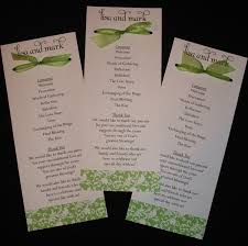 wedding program exles simple wedding reception program wording picture ideas references