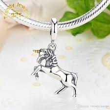 silver bracelet with pendant images 2018 unicorn pendant charm european charm fit for 925 sterling jpg