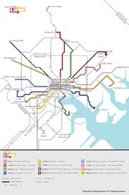 Link Light Rail Map Citylink System Map Baltimore Sun