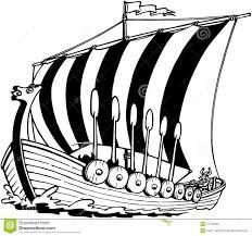 viking sailboat cartoon vector clipart stock vector image 41776323
