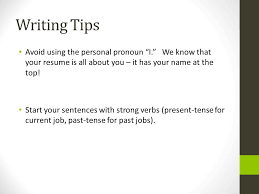 Resume Strong Verbs Cover Letter Resume And References Ppt Download