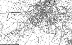 newark map maps of newark on trent francis frith