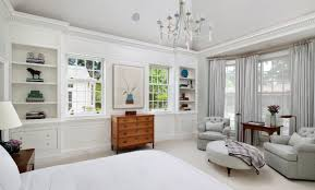crown moulding dominates this updated neoclassical american