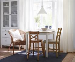 kitchen small rectangle breakfast nook table with rattan chair
