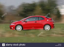 honda civic type r model year 2008 red driving side view