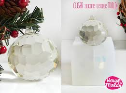 big faceted ball clear mold mold for 3d christmas ball card