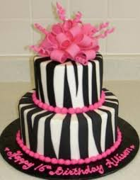 zebra striped birthday cakes a birthday cake