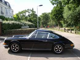 dark purple porsche classic chrome porsche 911 2 4t 1972 p p black