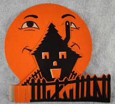 vintage beistle halloween beistle halloween 3d fold out haunted house and moon decoration