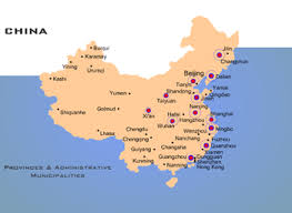 map of china and cities china map with provincial regions