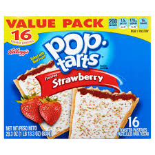 kellogg u0027s pop tarts frosted strawberry toaster pastries 16 ct