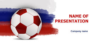 download free rusian soccer powerpoint template for presentation