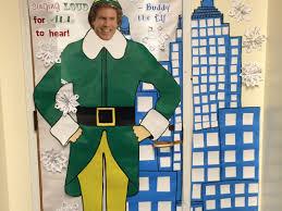christmas classroom door decorations buddy the elf spreading cheer