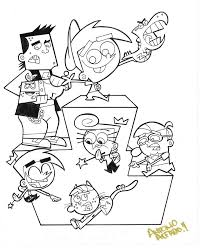 fairly odd parents coloring pages creativemove me
