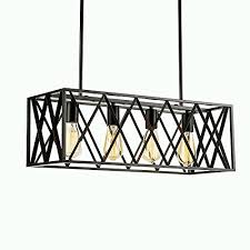 Rectangular Island Light Efinehome Efine Vintage Industrial Lighting 4 Lights Edison Retro